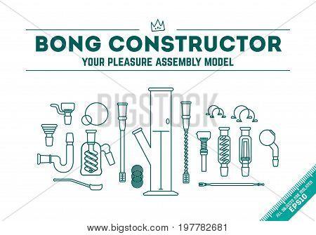 Vector Illustration - Bong Constructor