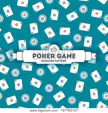 Poker Game - Vector Seamless Pattern.