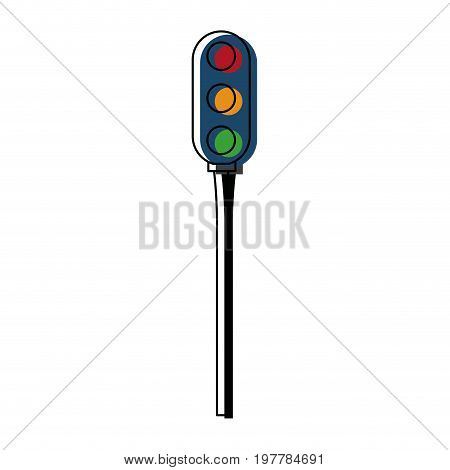 luminous traffic light signal stoplight urban vector illustration