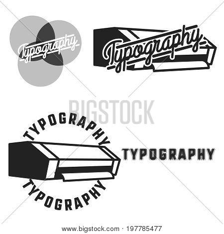 Vintage typography emblems. Vector illustration EPS 10