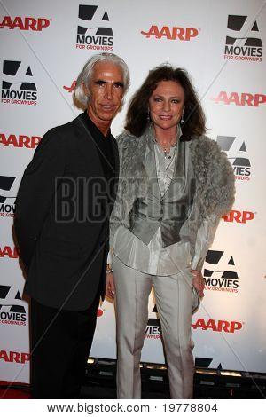 LOS ANGELES - FEB 7:  Jackie Bissett (R) arrives at the 2011 AARP