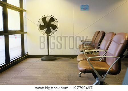 Seats for passenger in the room of local at the airport