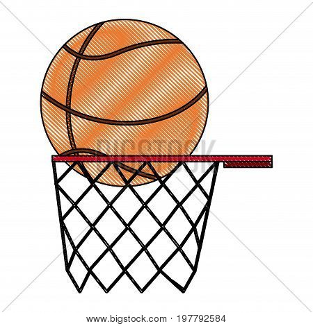 orange basketball ball basket sport equipment competition sphere play game