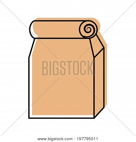 Lunch bag in paper bag vector illustration design