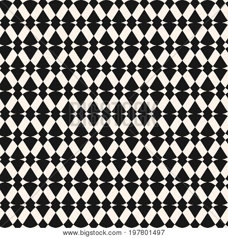 Seamless pattern. Abstract geometric texture with intersecting geometrical shapes, rhombuses, triangles. Simple monochrome ornamental background. Repeat tiles. Design pattern, textile pattern, covers pattern, digital pattern, package pattern.