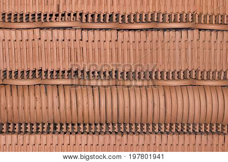 Close Up Detail Of Roof Tiles