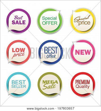 Modern Sale Sticker Collection 4.eps