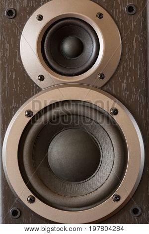 Sound Speakers Close-up. Audio Stereo System Macro