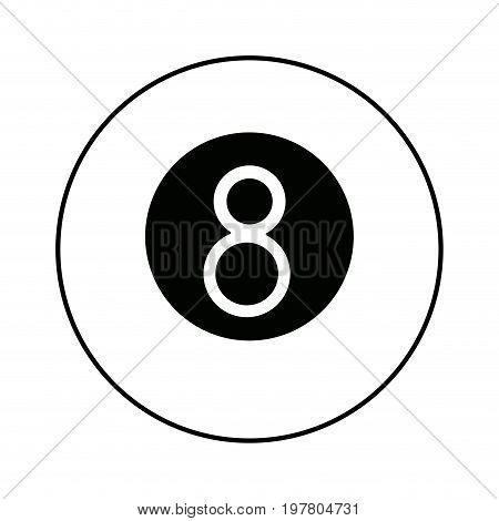 billiard ball number eight sports equipment vector illustration