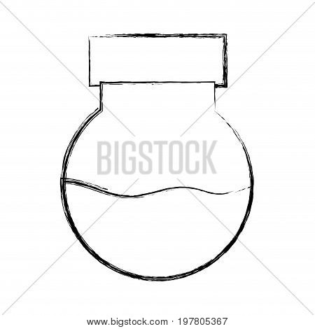 figure erlenmeyer flask to scientific experiment lab vector illustration