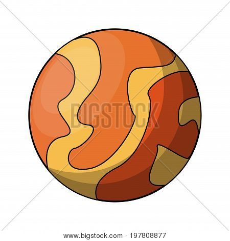 orange and yellow celestial body icon image vector illustration design