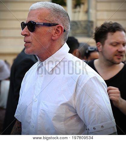PARIS- 21 June 2017 Nickelson Wooster on the street during the Paris Fashion Week