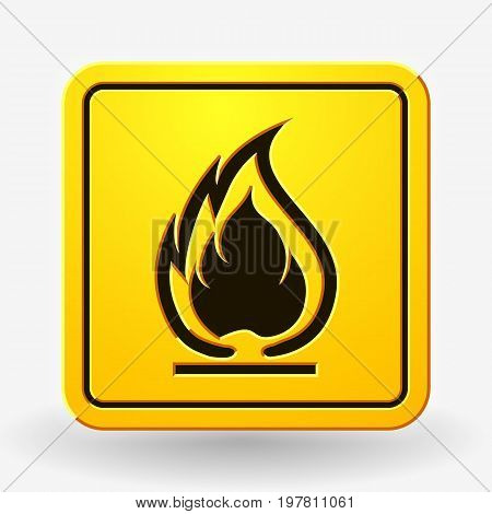 Flammable Symbol. Fire Icon. Packaging Symbol For Delivery Of Cargo