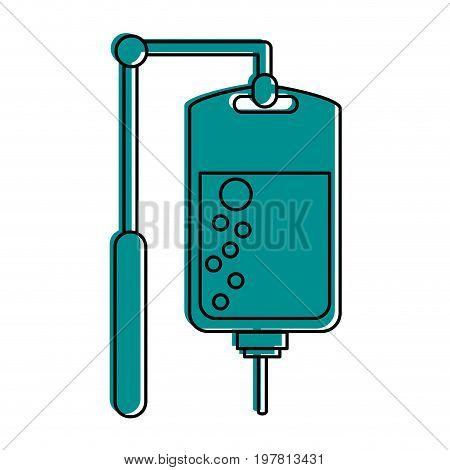 iv bag  icon image vector illustration design  blue color
