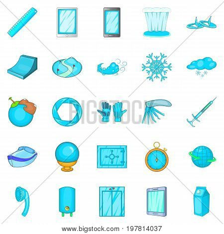 Bathroom icons set. Cartoon set of 25 bathroom vector icons for web isolated on white background