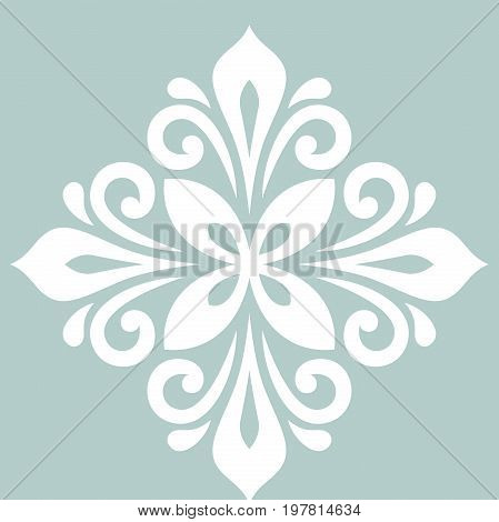 Oriental pattern with arabesques and floral elements. Traditional classic ornament with Vintage pattern with arabesques