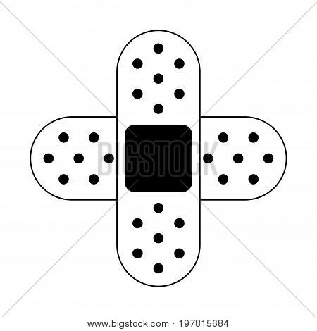 adhesive bandage healthcare related icon image vector illustration design  black and white