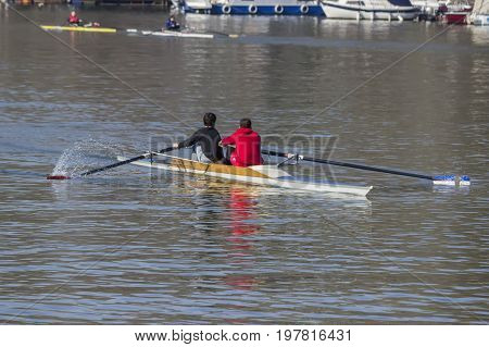 Double Sculls Trailing