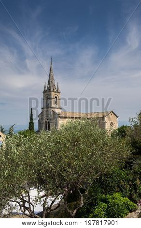 Church Of Bonnieux - Village Of The Luberon In Provence Region. France