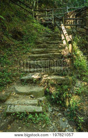 Access ladder to Cabreia's park in Sever do Vouga Aveiro Portugal