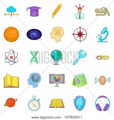 Brainstorm icons set. Cartoon set of 25 brainstorm vector icons for web isolated on white background