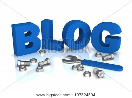 Blog Word Isolated 3D Illustration