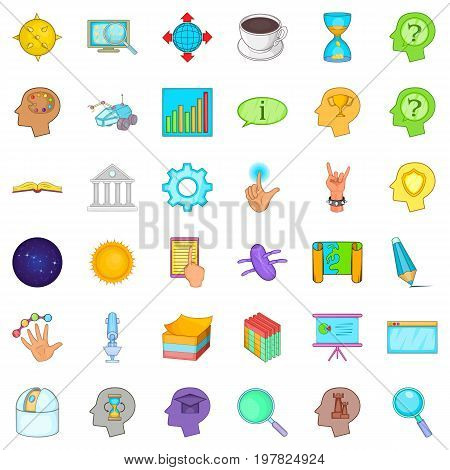 Bisuness storm icons set. Cartoon style of 36 bisuness storm vector icons for web isolated on white background