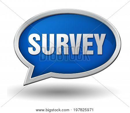 Survey Badge Concept  3D Illustration