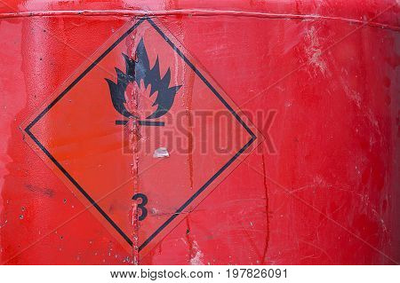 Fuel Tank With Warning Sign