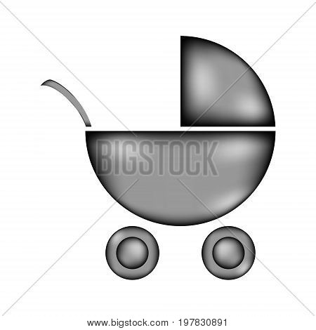 Pram sign icon on white background. Vector illustration.