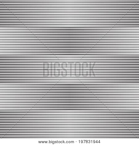 Halftone horizontal lines. Vector background with lines of variable thickness