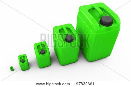 Greener jerrycan isolated on white background 3d render