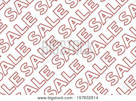 Concept of sale letters background pattern design