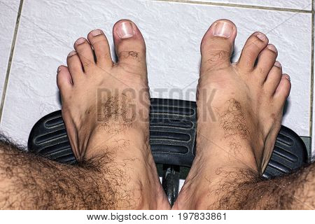barefoot feet floor person  floor  close-up body care