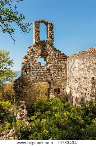 Ruined Church in Sveti Blaz on the island of Cres (Croatia)
