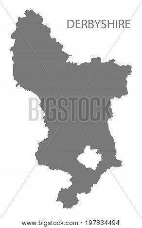 Derbyshire County Map England Uk Grey Illustration Silhouette Shape