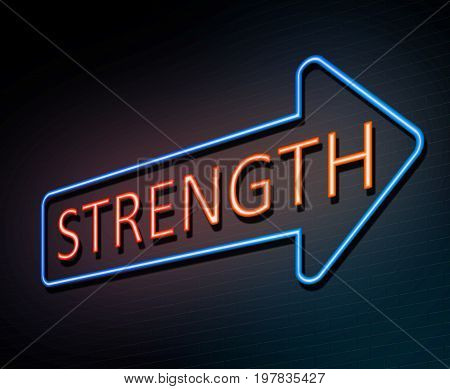 Strength Neon Concept.