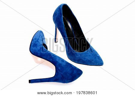 Female Formal Red Footwear As Fashion And Beauty Concept