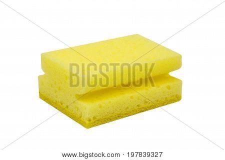 Yellow Scrubbing Sponge