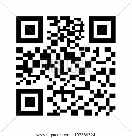 QR Code icon isolated on white background. Vector illustration. Eps 10.