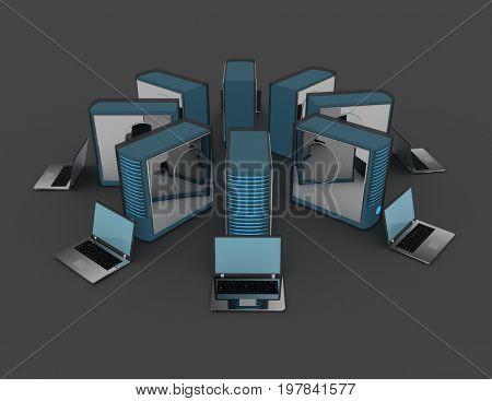 Computer Network Concept . 3D Rendered Illustration