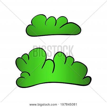 Bush Cartoon Vector Symbol Icon Design. Beautiful Illustration Isolated On White Background