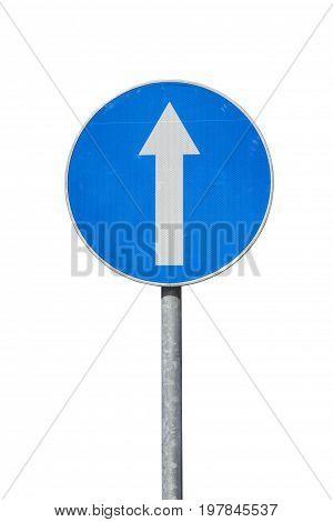 Blue Direction Sign
