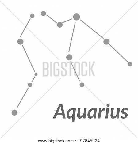 The Water-bearer Aquarius Sing. Star Constellation Vector Element. Age Of Aquarius Constellation Zod