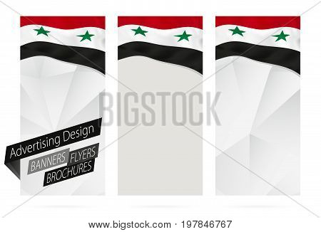 Design Of Banners, Flyers, Brochures With Flag Of Syria.