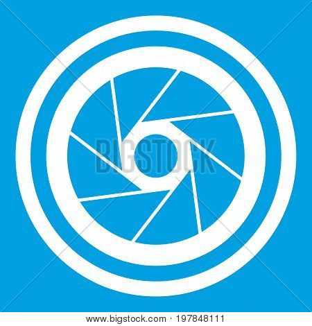 Big objective icon white isolated on blue background vector illustration