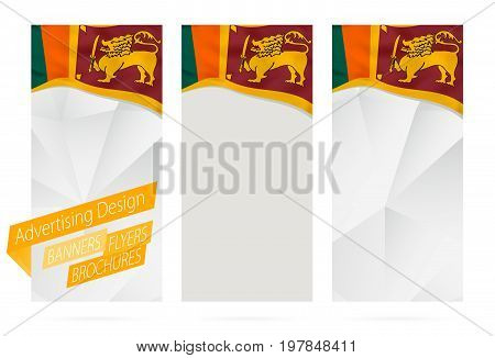 Design Of Banners, Flyers, Brochures With Flag Of Sri Lanka.