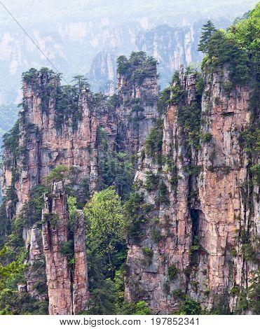 Zhangjiajie National Forest Park In Wulingyuan Scenic Area, Hunan, China