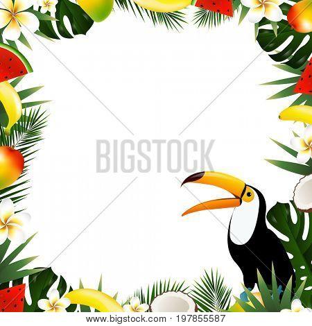 Summer Tropical Frame