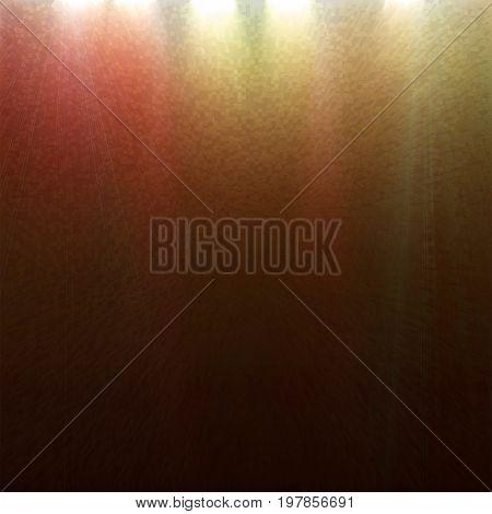 light colored spotlights on a dark background